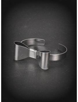 Bratara lolita silver ribbon