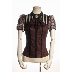 Steampunk Melisandre Brown Blouse