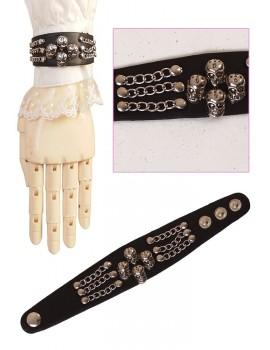 S Rock Skulls Wristband