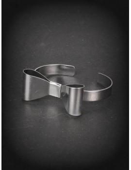 Lolita silver ribbon wristband