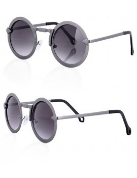 FUTURA CHROME Round steampunk sunglasses