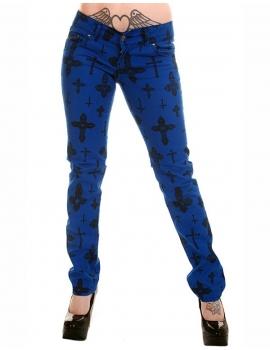 Pantaloni Cross Albastrii