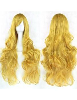 Blonde Wavy Cosplay Wigs 80cm