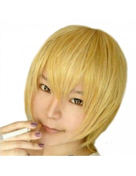 gold Cosplay short wig