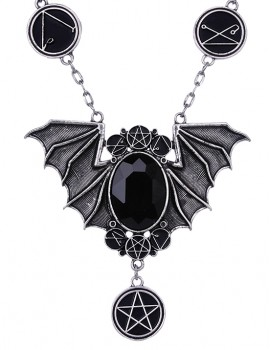 Necronomicon Bat Necklace