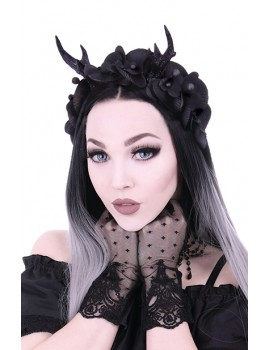 Gothic Deer Antlers and Orchids headband