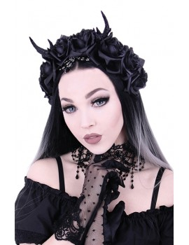 Gothic Romantic Roses Headband