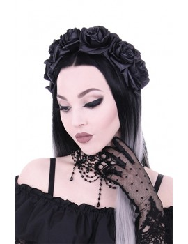 Black Roses gothic headband