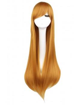 Long blonde-orange wig