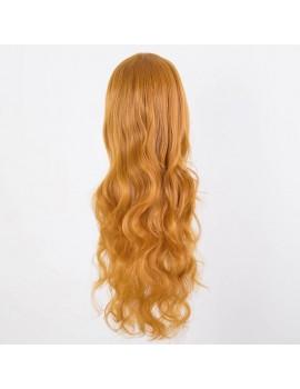 Long Wavy blonde-orange wig