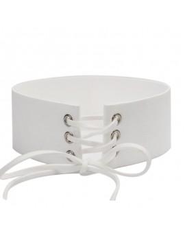 White choker corset