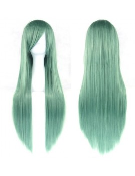 Long light green wig