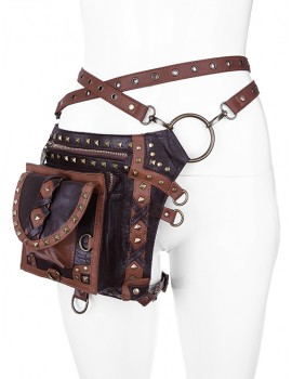 GEANTA - CUREA HOLSTER BROWN STUDDED