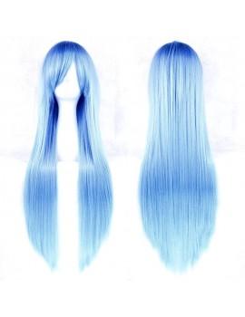 Peruca lunga albastru deschis