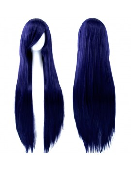 Dark BLUE LONG WIG
