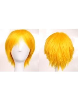 short yellow wig