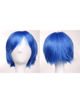 short light blue wig