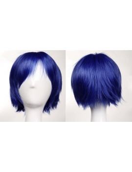 short dark blue wig