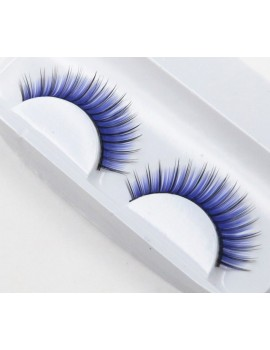Blue faux lashes