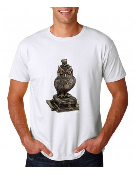 T-SHIRT STEAMPUNK OWL