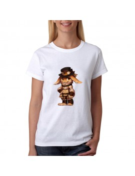 T-SHIRT STEAMPUNK RABBIT