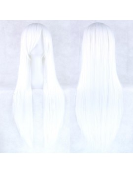 long white cosplay wig